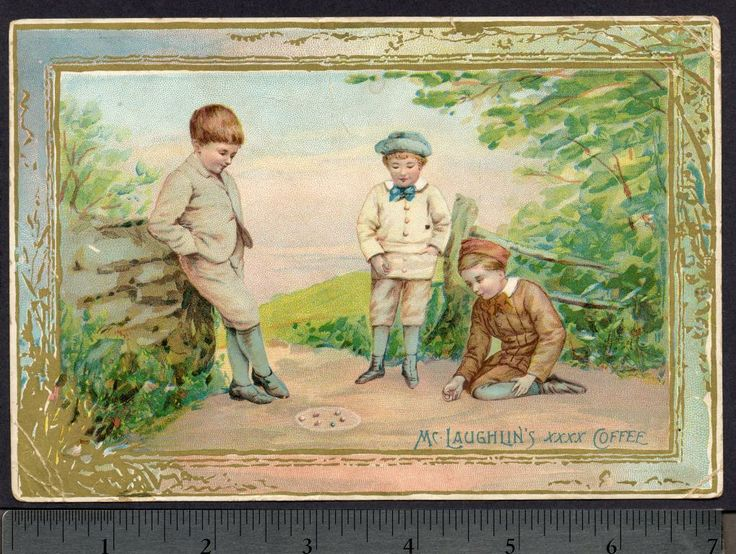 Antique Image Kids Playing Marbles 1800s Google Search