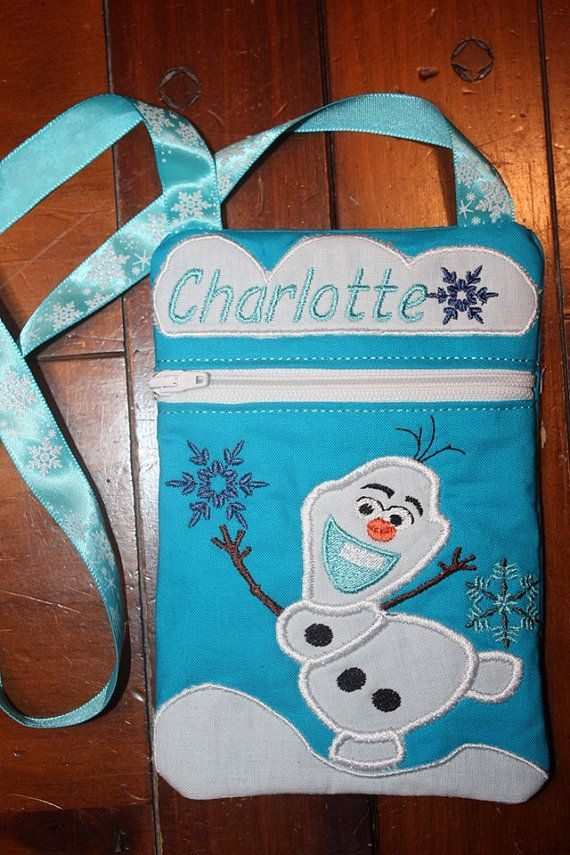 Olaf ITH zippered Bag PES format 5x7 by AllUpInStiches on Etsy, $10.00
