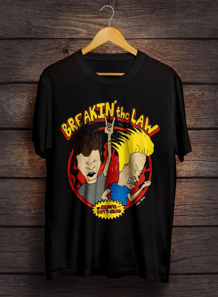 1a3f89ecea7cb RARE Beavis and Butthead T-Shirt Gray Vintage Breakin The Law.8  fashion   clothing  shoes  accessories  mensclothing  shirts (ebay link)