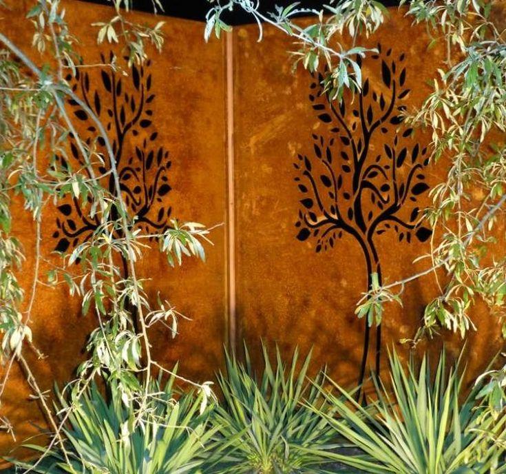 Panneaux en acier corten pour le jardin projet maison - Deco metal jardin ...
