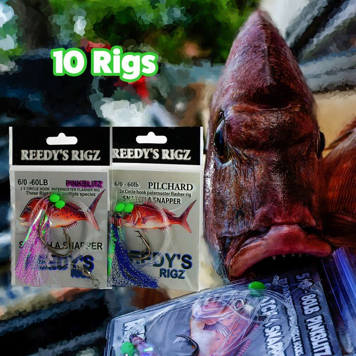 Snapper Rigs Aka Fishing Flasher Rig tie 60lb Leader 6/0 Mixed Colour 10 pack Quality Free Shipping Australia & World Wide