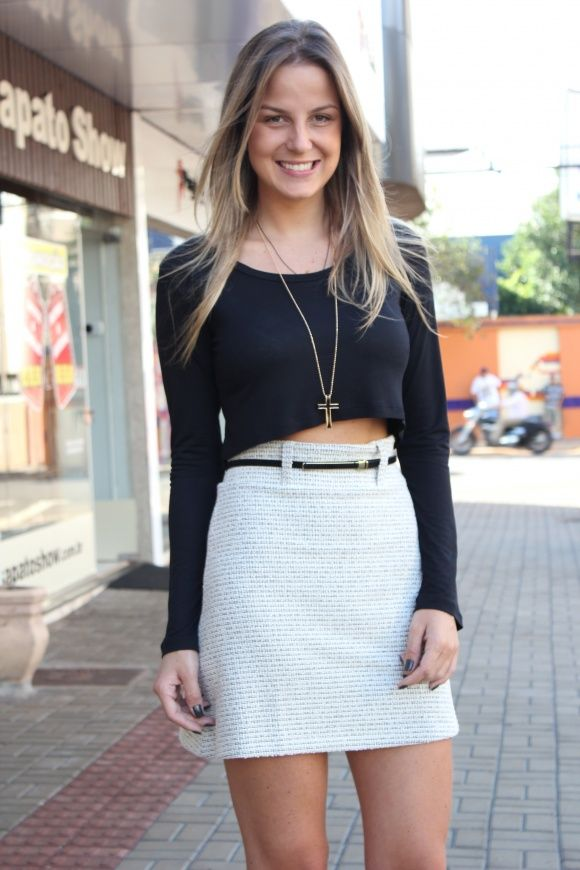 look com blusa cropped!