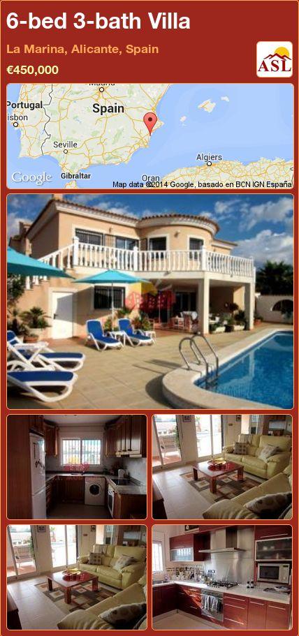 6-bed 3-bath Villa in La Marina, Alicante, Spain ►€450,000 #PropertyForSaleInSpain
