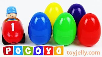 Pocoyo Car Surprise Eggs Learn Colors & Numbers 1 to 10 Nursery Rhymes Peppa Pig Disney Cars Minions - YouTube