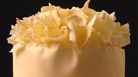 White chocolate mousse and raspberry gateau recipe : SBS Food