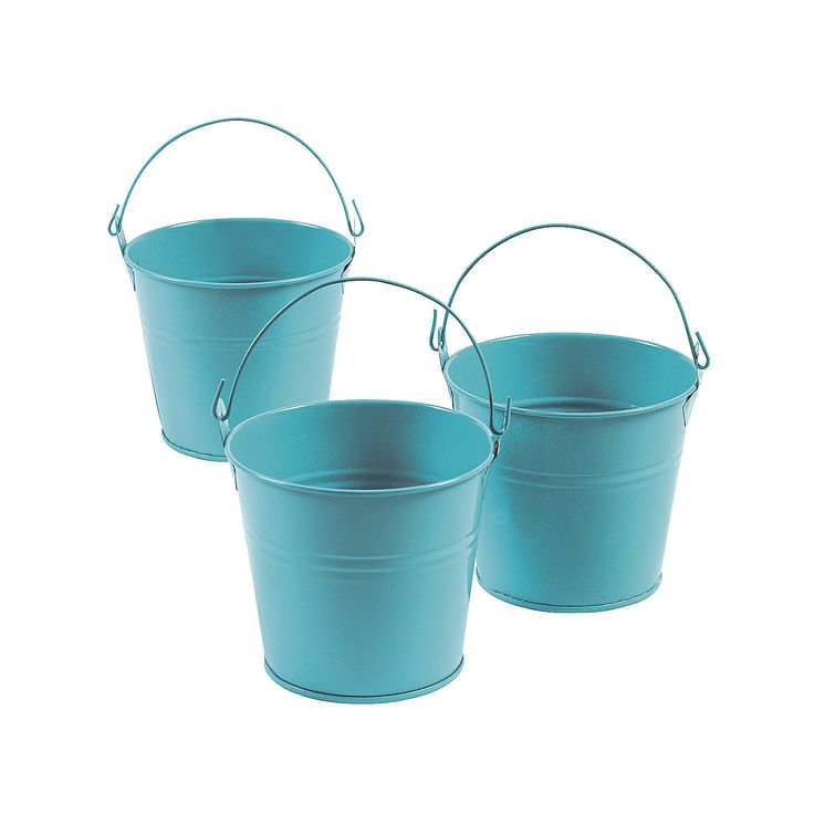 Blue Tinplate Pails - OrientalTrading.com