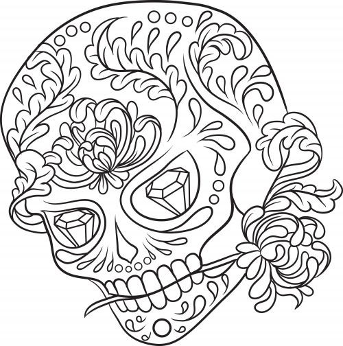 30 best images about color art therapy sugar skulls on pinterest sugar skulls drawings and