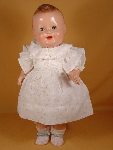 .Vintage Composition Baby Sandy Doll by Freundlich: Baby Dolly, Composition Baby, Baby Sandy, Baby Dolls