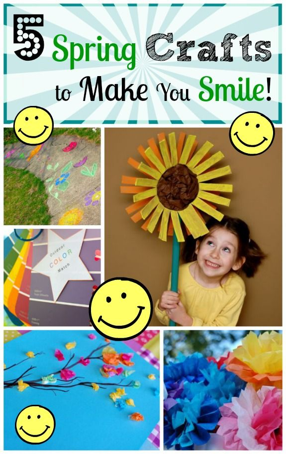 5 Spring Crafts to Make You Smile :-) I need to do the paint chip scavenger hunt for camp!