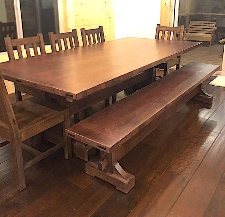 39++ Trestle dining table with bench Various Types