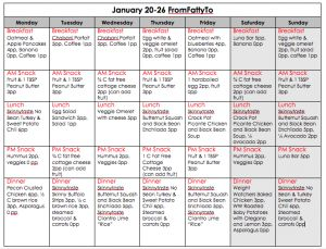 Weekly Menu January 20-26