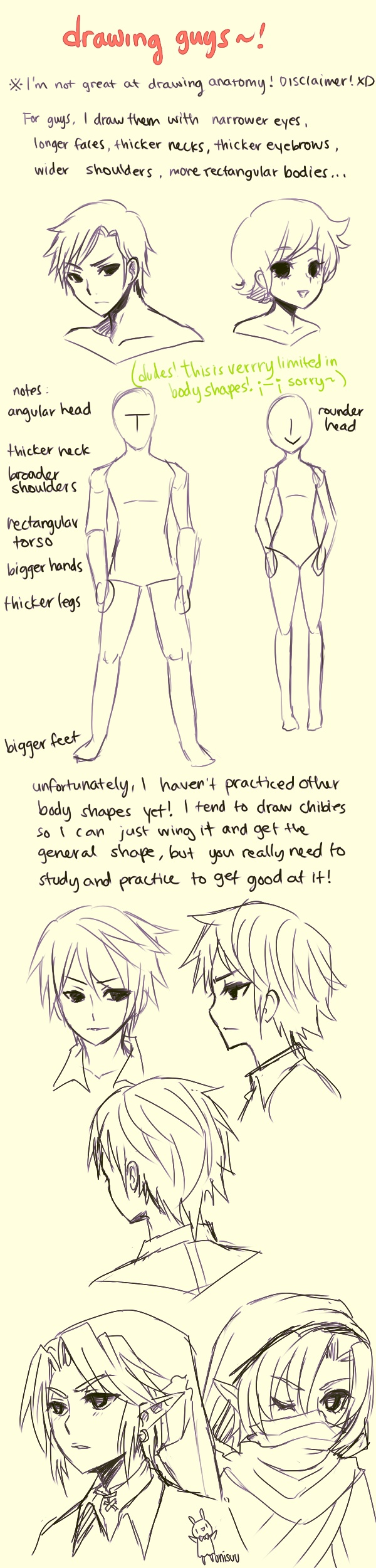 tips -- how I draw guys by onisuu.deviantart.com