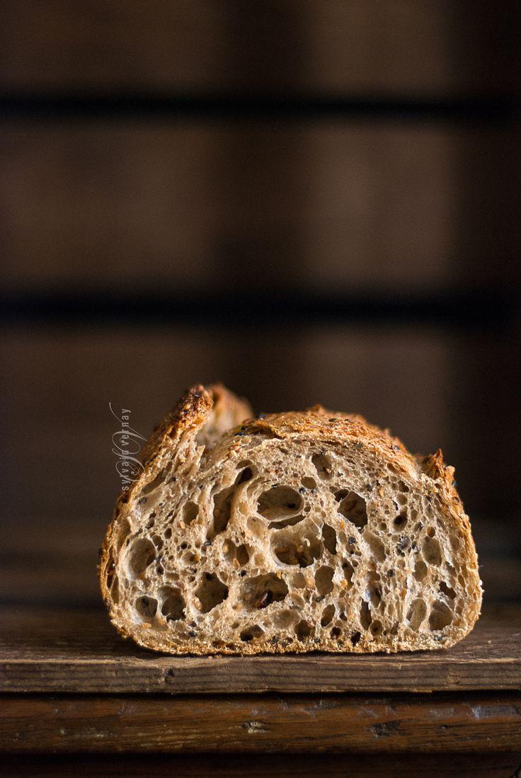 Multigrain seeded sourdough bread. By Sylvain Vernay.