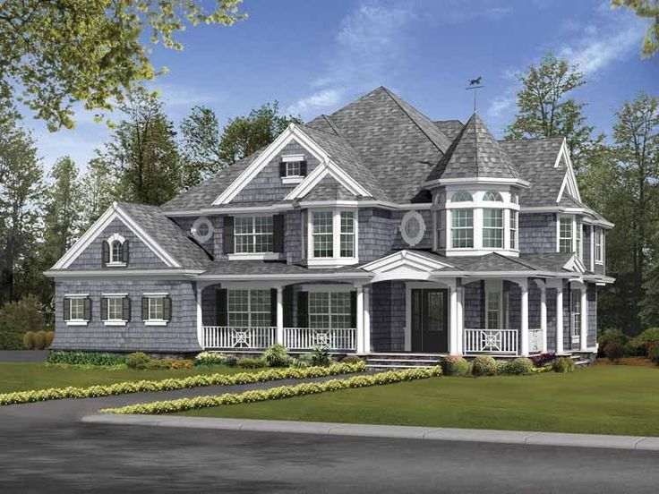 Victorian House Plan with 4460 Square Feet and 5 Bedrooms from Dream Home Source | House Plan Code DHSW64051