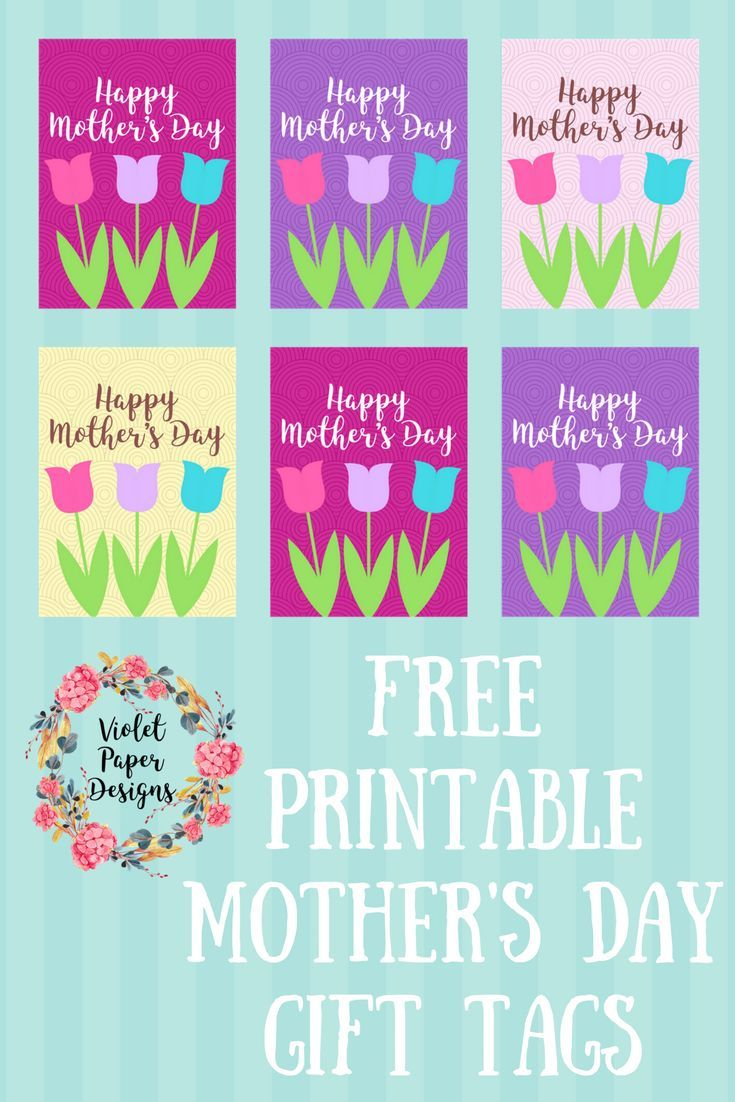 picture about Free Printable Mothers Day Tags titled Free of charge Printable Moms Working day Present Tags Children Crafts