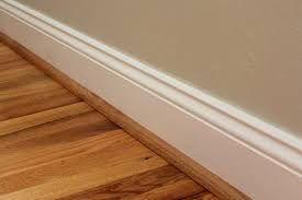 An example of wood-colored quarter round molding.