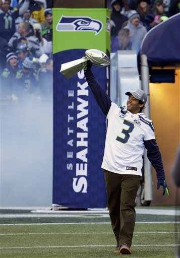 Seahawk Russell Wilson brought home the Lombardi!!!