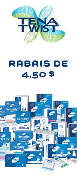 Rabais de 4,50 $ pour produits Tena.  http://rienquedugratuit.ca/coupons/pour-produits-tena/