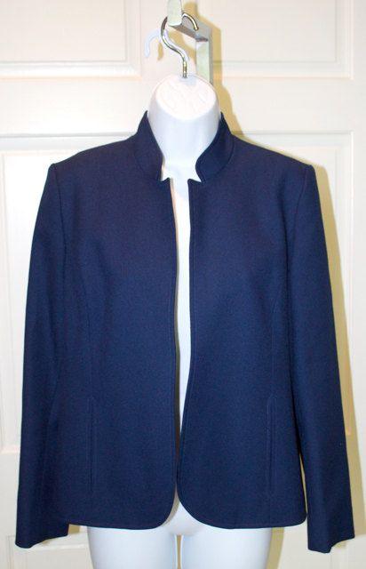 Vintage Saphire Blue Jacket with Plum Lining  by DIXIETEXTILES, $32.00