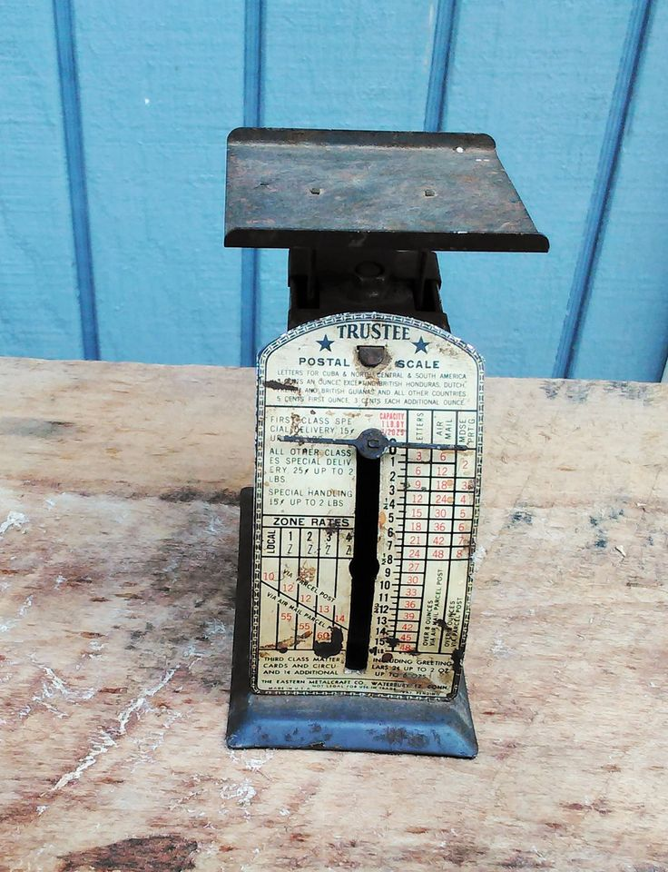 Vintage Postal Scale - Office Decor by theindustrycottage on Etsy