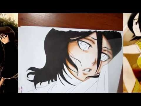 ANTLG - Drawing Rukia Kuchiki from Bleach【ブリーチ】 - YouTube