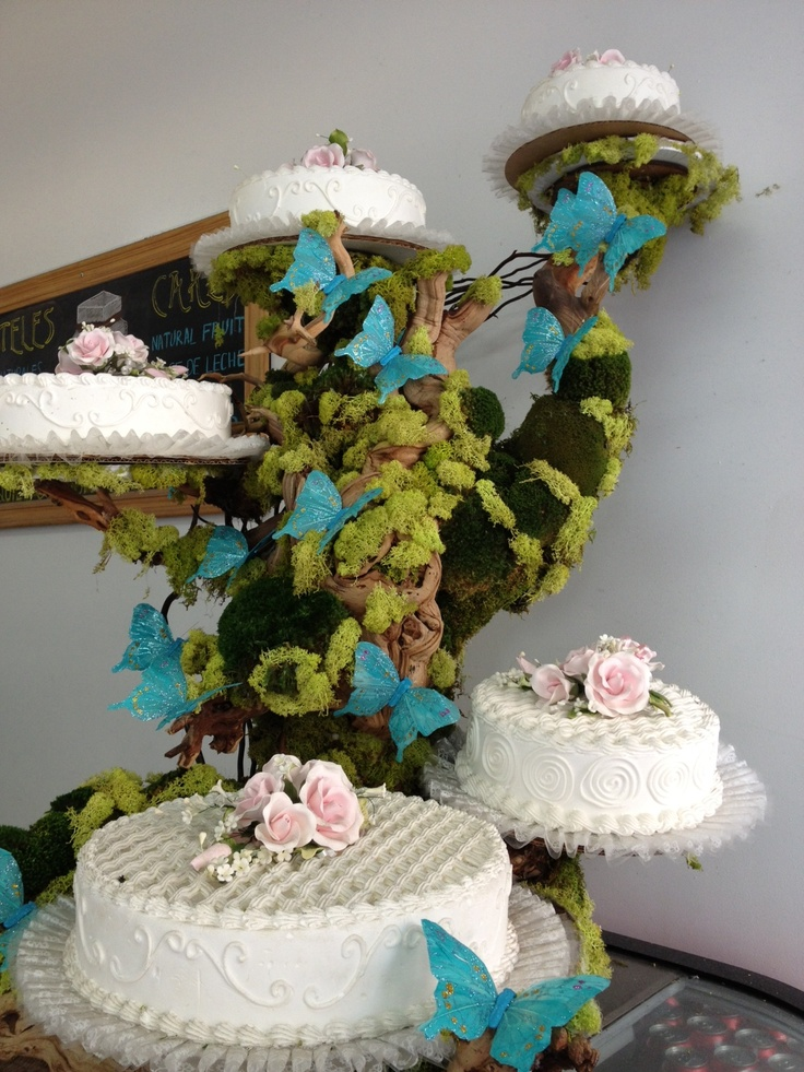 fabulous wedding cake stands fabulous enchanted forest whimsical wedding cake stand 14088
