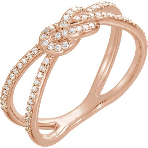 0.20 Ct Tw Diamond Knot Ring