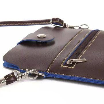 Vintage 7.9inch Bag Phone Bag Shoulder Bag Card Holder Portable Crossbdoy Bag - US$12.77