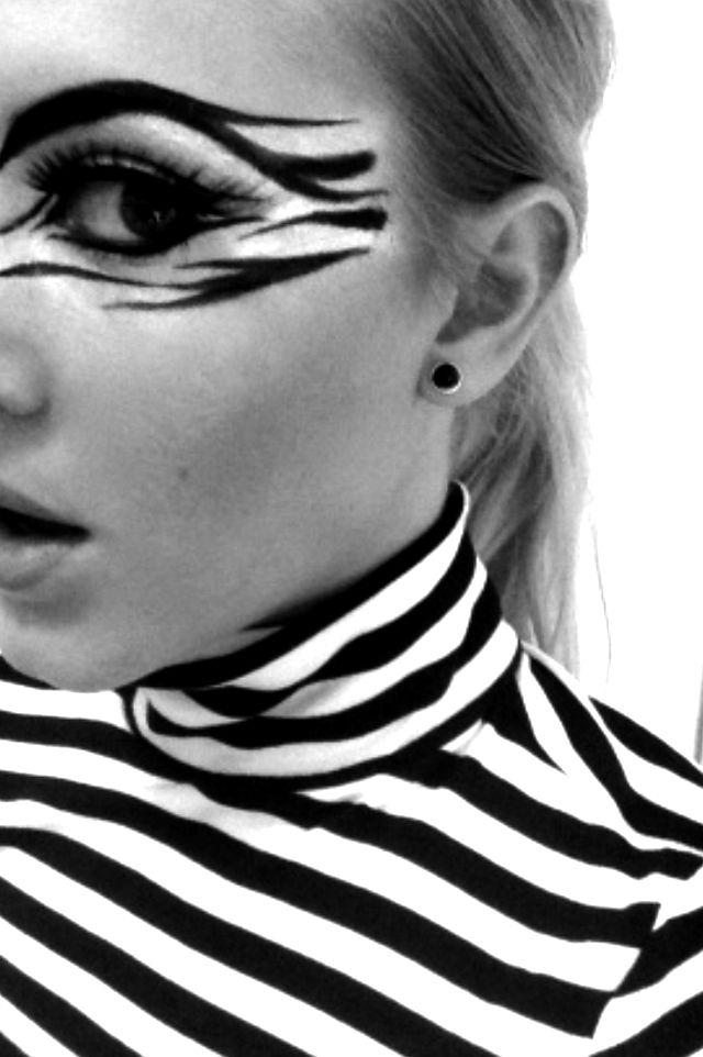 zebra makeup