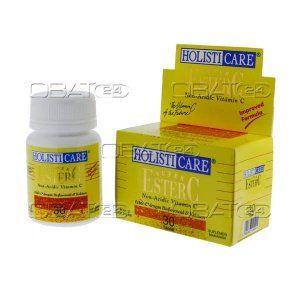 HOLISTICARE SPR EST.C  Komposisi : ester c 320 mg, citrus bioflavonoid 100 mg, calcium 32 mg