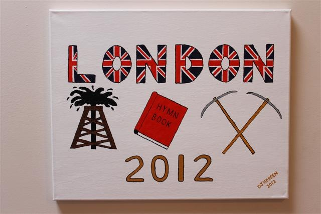 This painting is for the upcoming Olympic Games & is done in my say what you see style. It is called The London Olympics 2012