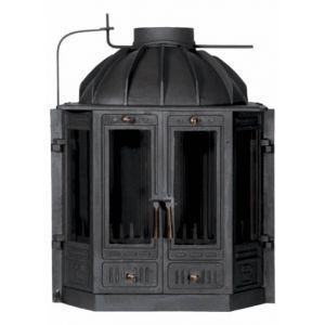 """Żeliwny wkład kominkowy z """"łamanymi"""" drzwiczkami #Kornak 2 - http://www.wkladykominkowe.net.pl/produkt/zeliwny-wklad-kominkowy-z-lamanymi-drzwiczkami-kornak-2 #kominek #fireplace"""