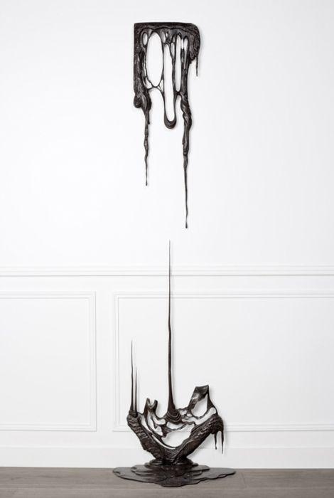 dripping black