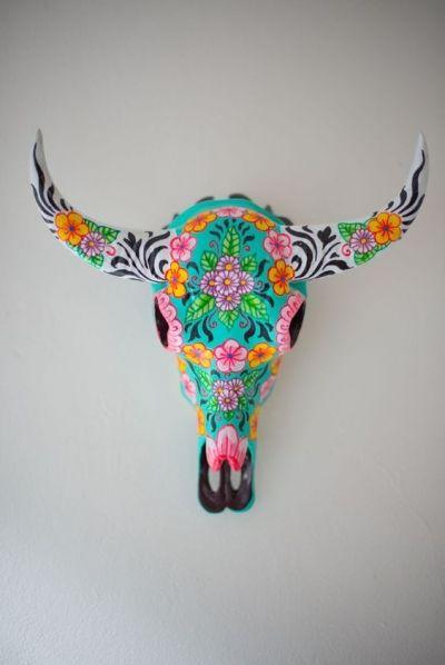Tête de gazelle décorée