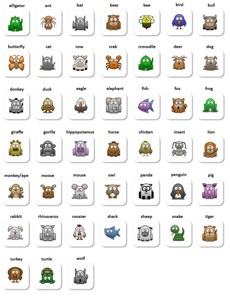 Animals - English vocabulary for beginners