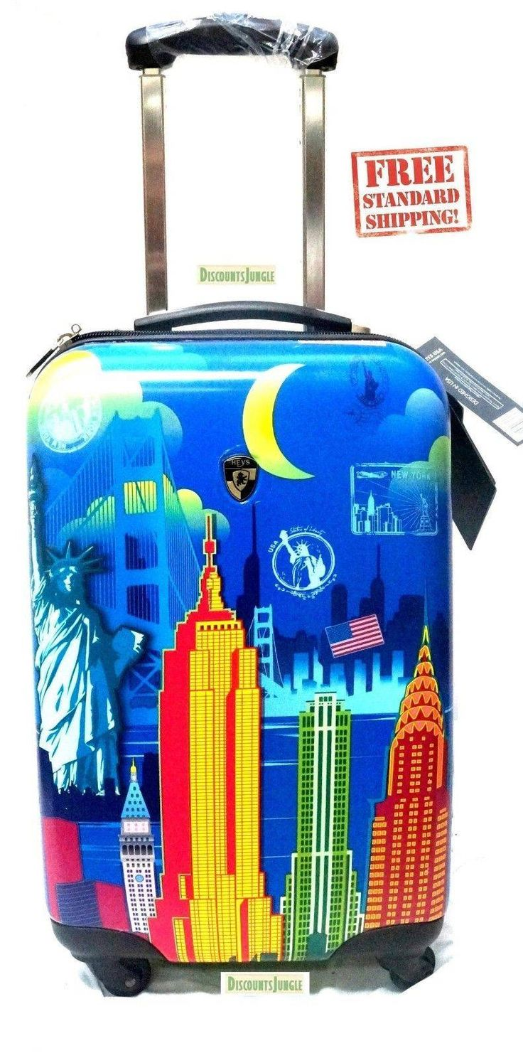 "cool big apple Heys USA America Baggage 21"" Spinner Expandable Cary On Suitcase D1282Q"