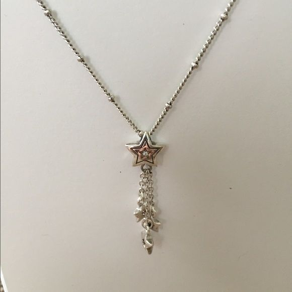 Brighton Shooting Star Necklace Super cute shooting star necklace. Smaller stars dangling from larger star pendant. Great with any outfit! Brighton Jewelry Necklaces