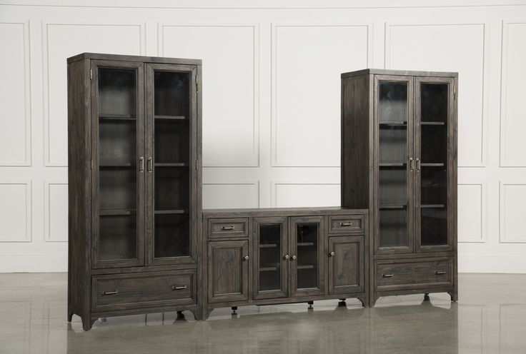 Valencia 3 Piece Entertainment, Grey, Entertainment Centers & TV Stands
