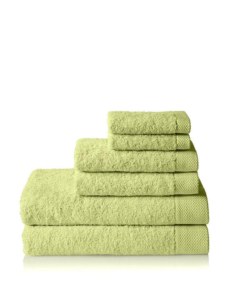 inexpensive green towel set $34 Espalma Madero 6-Piece Set at MYHABIT