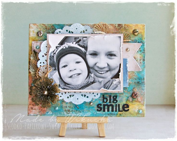 Canvas with mixed media background