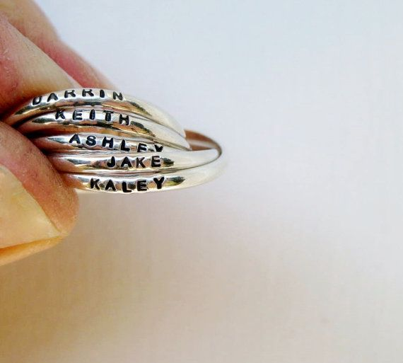great Mother's Day gift idea                Tiny Quintuple (5) Interlocking Personalized Ring - Tiny Ring, Russian Wedding Ring, Mother's Ring, Overlapping Ring, Resolution Ring on Etsy, $149.00