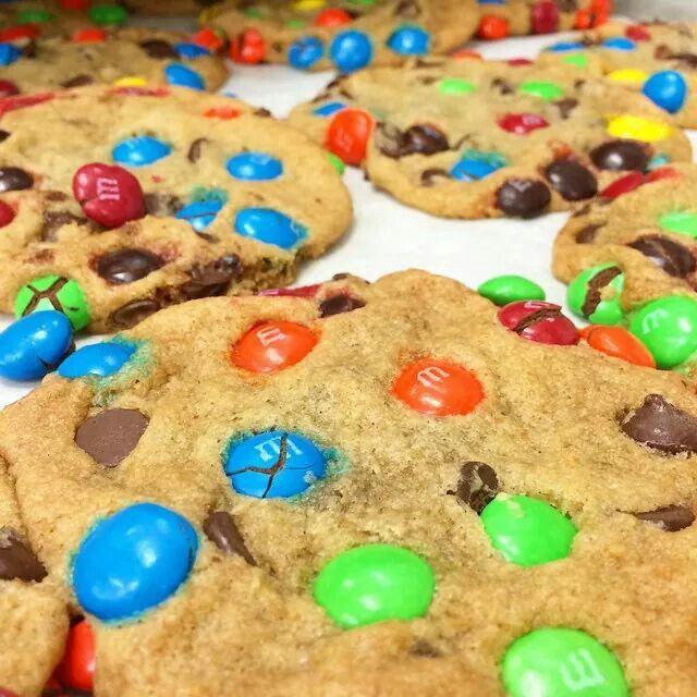 M&M koekjes