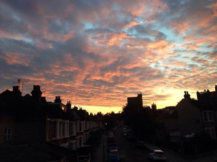 A mottled West Hamspstead sky in July from Joanna Miller Betts