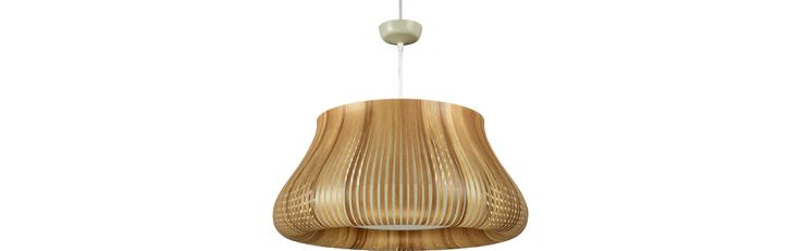 Ilios Ceiling lamp in PVC, natural wood (www.habitat.fr)