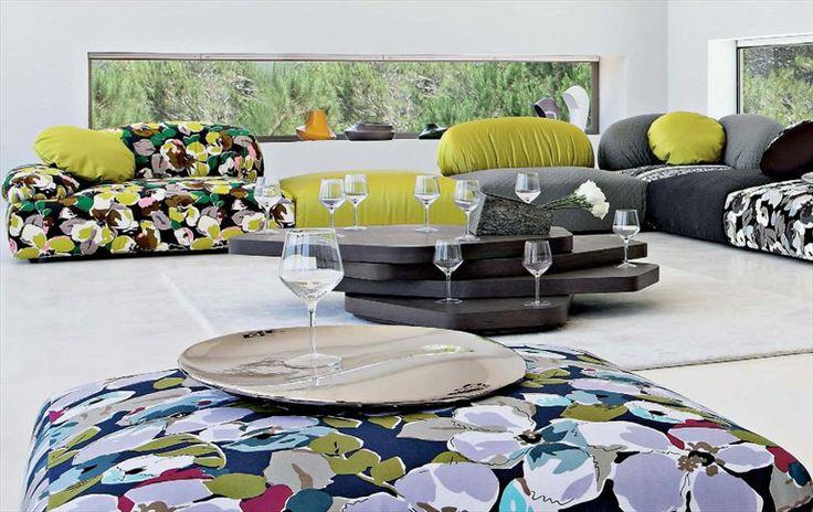 Divano componibile sfoderabile ANAGRAMME Collezione Les Contemporaines by ROCHE BOBOIS | design Hans Hopfer