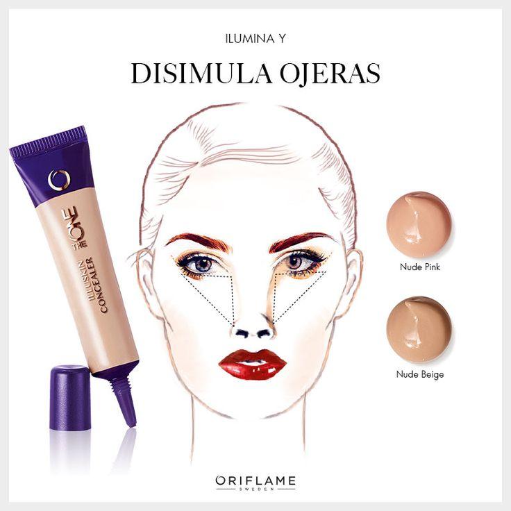 Para una mirada fresca, ilumina trazando un triángulo cuya base se ubique en el párpado inferior del ojo y rellena con el Corrector Iluminador de The ONE. #OriflameTheOne #MakeUp #Tip #Maquillaje #DIY