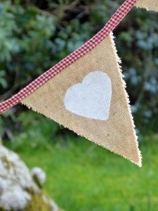 Hessian Mr and Mrs Bunting 260 cm £39.50 to buy, also available to buy from http://www.thevintagebuntinghirecompany.com