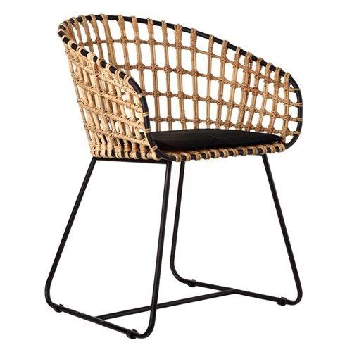 Chair Tokyo black/rattan - pols potten