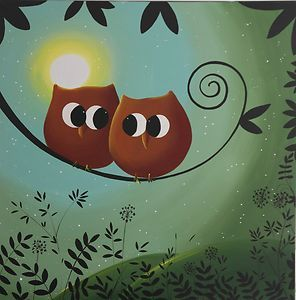 owl canvas painting - Google Search