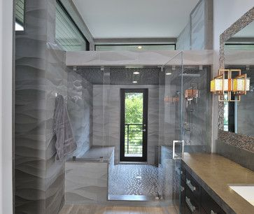 Modern living - contemporary - bathroom - houston - Hann Builders